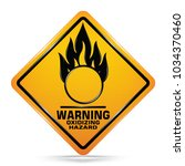 international oxidizing hazard... | Shutterstock .eps vector #1034370460