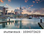 auckland. cityscape image of... | Shutterstock . vector #1034372623