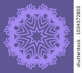 decorative cicle floral vector... | Shutterstock .eps vector #1034372803