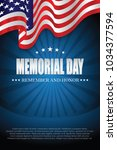 memorial day. remember and... | Shutterstock .eps vector #1034377594