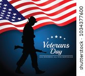 veterans day. vector... | Shutterstock .eps vector #1034377600