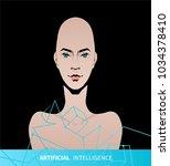 artificial intelligence concept. | Shutterstock .eps vector #1034378410