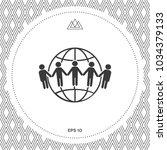 earth icon. communication... | Shutterstock .eps vector #1034379133