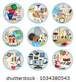 round education subject web... | Shutterstock .eps vector #1034380543