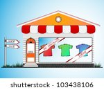 clothes shop  abstract vector... | Shutterstock .eps vector #103438106