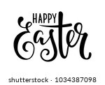 happy easter hand drawn... | Shutterstock .eps vector #1034387098