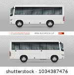 bus vector mock up. isolated... | Shutterstock .eps vector #1034387476