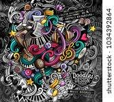 doodles music vector... | Shutterstock .eps vector #1034392864