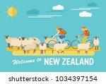 flat design  illustration of... | Shutterstock .eps vector #1034397154