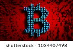 abstract numbers random motion... | Shutterstock . vector #1034407498