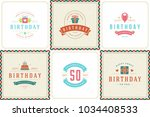 happy birthday greeting cards... | Shutterstock .eps vector #1034408533