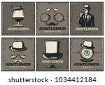 vintage gentleman club... | Shutterstock .eps vector #1034412184