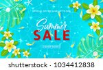 summer sale web banner template.... | Shutterstock .eps vector #1034412838