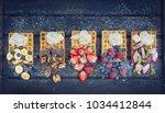 fresh crispy waffles with...   Shutterstock . vector #1034412844