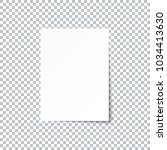 white empty paper sheet with... | Shutterstock .eps vector #1034413630