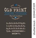 craft retro vintage typeface... | Shutterstock .eps vector #1034419339