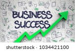 business success inscription on ... | Shutterstock . vector #1034421100