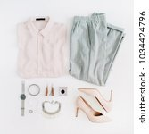 women modern fashion clothes... | Shutterstock . vector #1034424796
