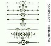 set of vector horisontal... | Shutterstock .eps vector #1034425030