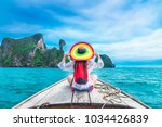 summer lifestyle traveler woman ... | Shutterstock . vector #1034426839