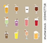 various menu of drink | Shutterstock .eps vector #1034427718
