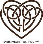 stencil. vector icon  celtic... | Shutterstock .eps vector #1034429794