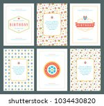 happy birthday greeting cards...   Shutterstock .eps vector #1034430820