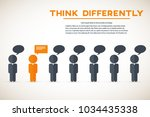 think differently   being... | Shutterstock .eps vector #1034435338