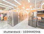 defocused brand new wide... | Shutterstock . vector #1034440546