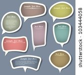 speech bubbles with...