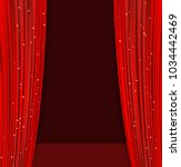 red theater curtains with... | Shutterstock .eps vector #1034442469