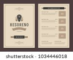 grill restaurant logo and menu... | Shutterstock .eps vector #1034446018