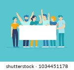 vector illustration in flat... | Shutterstock .eps vector #1034451178