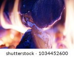 home made fire with beautiful... | Shutterstock . vector #1034452600