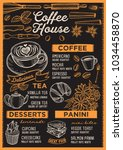 coffee restaurant menu. vector... | Shutterstock .eps vector #1034458870
