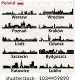 poland largest city skylines... | Shutterstock .eps vector #1034459890