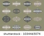 set of vintage frame with... | Shutterstock .eps vector #1034465074