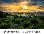 View Of The Old City Jerusalem...