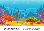 cartoon seamless underwater...