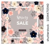 a spring sale  promotion  sell... | Shutterstock .eps vector #1034470540
