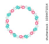 floral wreath bouquet flowers... | Shutterstock .eps vector #1034471014