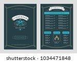 seafood restaurant menu design... | Shutterstock .eps vector #1034471848
