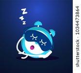 alarm clock. illustration of... | Shutterstock .eps vector #1034473864