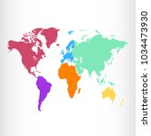 world map. europe asia america... | Shutterstock .eps vector #1034473930