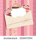 greeting card with envelope | Shutterstock .eps vector #103447394