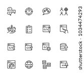 line icon set related of web... | Shutterstock .eps vector #1034474293