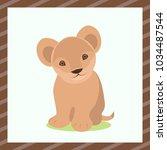 vector flat illustration. cute...   Shutterstock .eps vector #1034487544