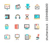 office icon set | Shutterstock .eps vector #1034488600