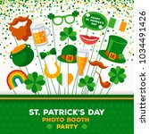 saint patrick's day photo booth ... | Shutterstock .eps vector #1034491426