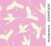 crane  pattern  vector ... | Shutterstock .eps vector #1034491654